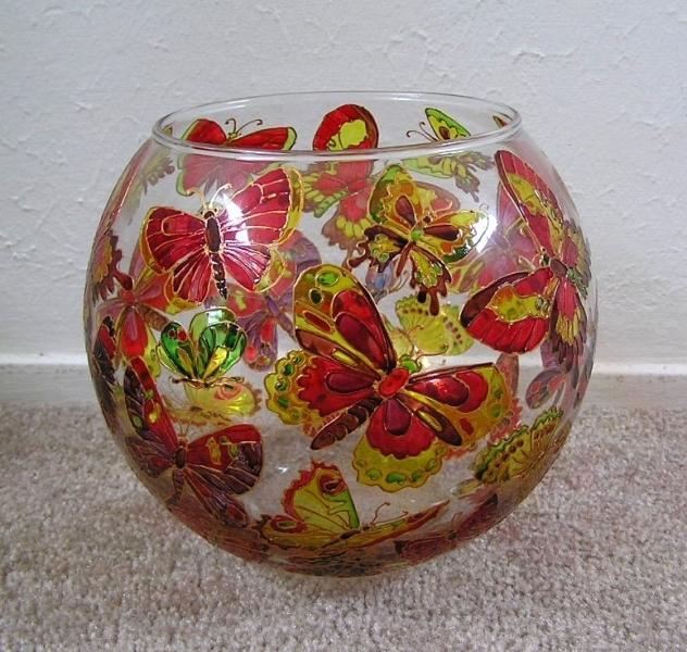 Роспись по стеклу и керамике. Идеи. Photo143